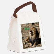 Resting lion Canvas Lunch Bag