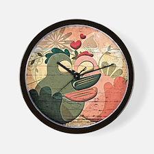 Unique Love birds Wall Clock