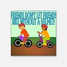 "Unique Bike helmet Square Sticker 3"" x 3"""