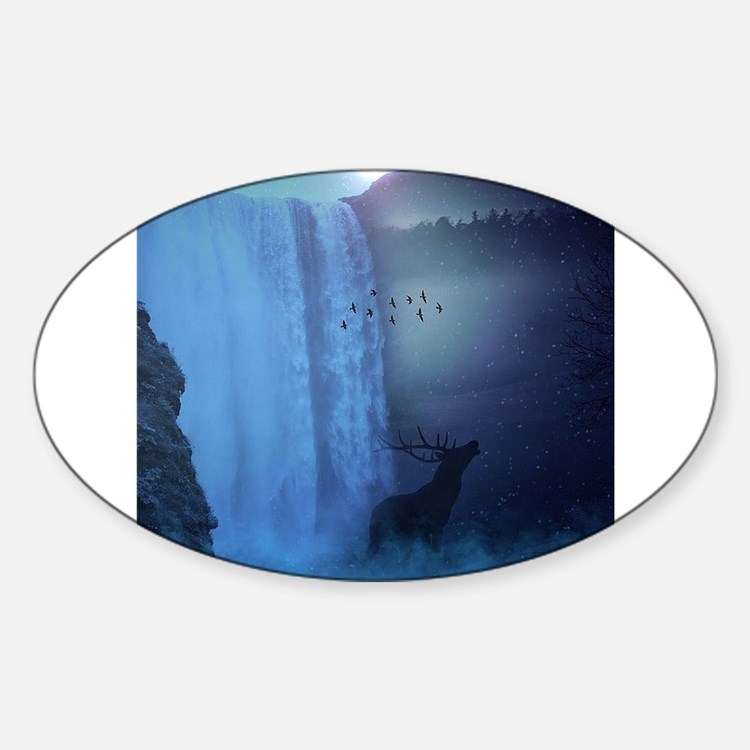 Wildlife and Waterfall Decal