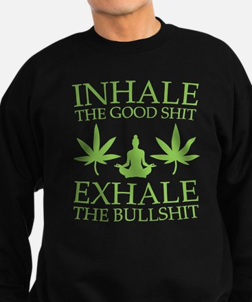 Yoga: Inhale the good shit Jumper Sweater