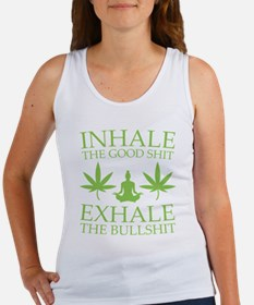 Yoga: Inhale the good shit Tank Top