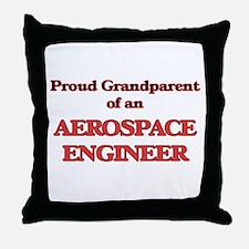 Proud Grandparent of a Aerospace Engi Throw Pillow