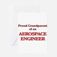 Proud Grandparent of a Aerospace En Greeting Cards