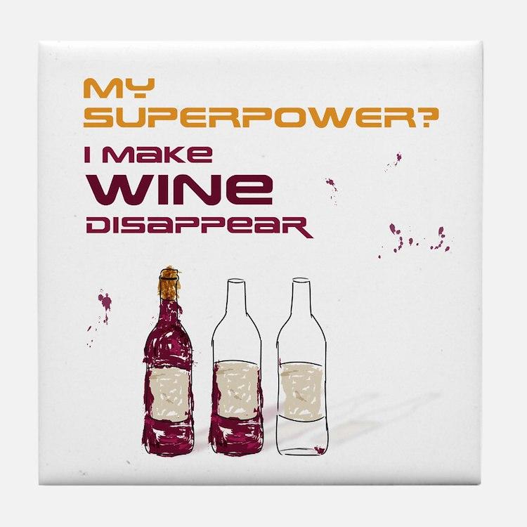 Funny Wine Quote Tile Coaster