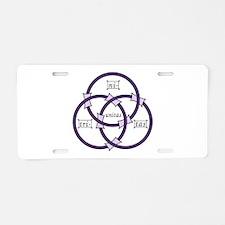 Trinity - Borromean Rings Aluminum License Plate