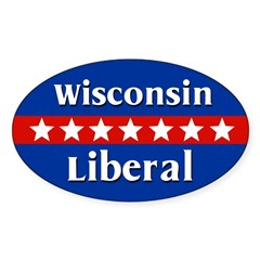 Wisconsin Liberal Oval Car Decal