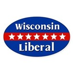 Wisconsin Liberal Oval Car Sticker