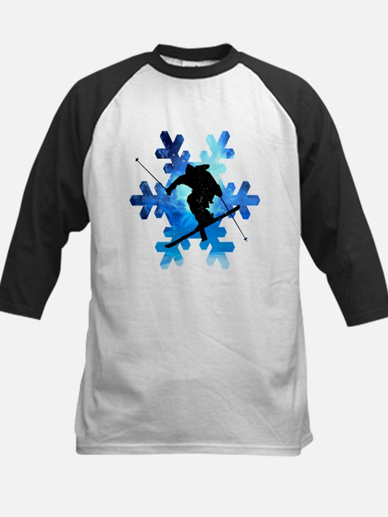 Winter Landscape Freestyle skier i Baseball Jersey