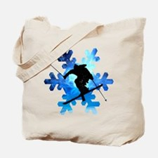 Winter Landscape Freestyle skier in Snowf Tote Bag