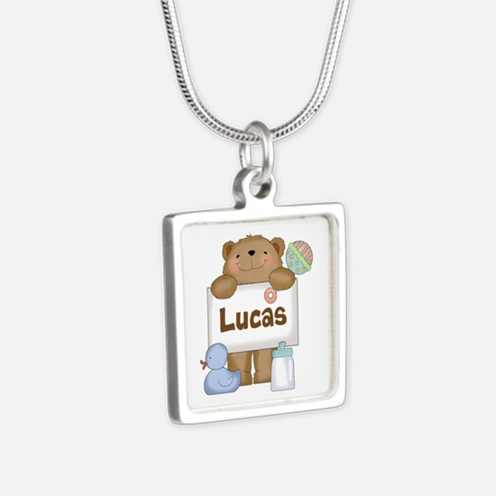 Lucas's Silver Square Necklace