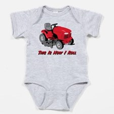 This Is How I Roll Mower Baby Bodysuit