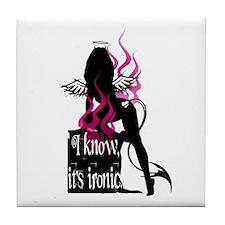 Fire Demon Angel Tile Coaster