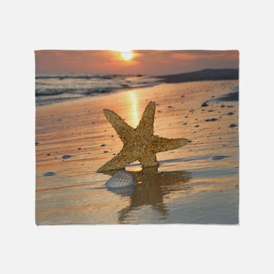 Funny Starfish Throw Blanket