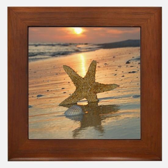 Funny Starfish Framed Tile