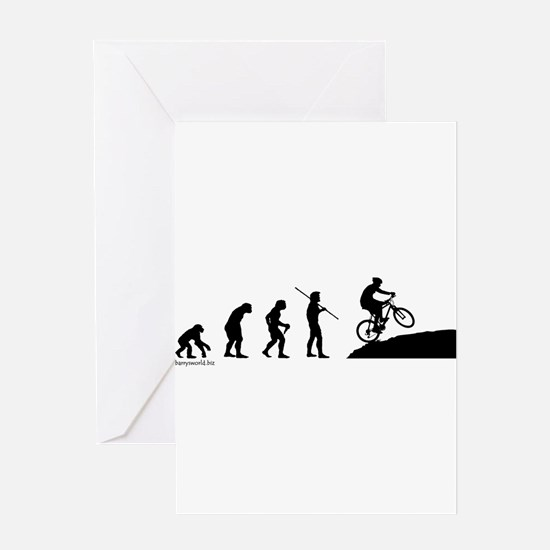 Funny Mountain bike Greeting Card