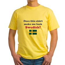 Unique Swedish flag T