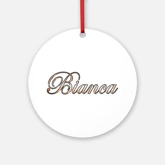 Cute Bianca Round Ornament