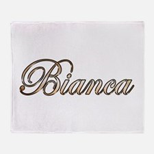 Gold Bianca Throw Blanket