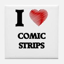 comic strip Tile Coaster