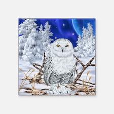 Snowy Owl Digital Art Sticker