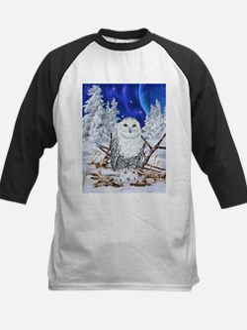 Snowy Owl Digital Art Baseball Jersey