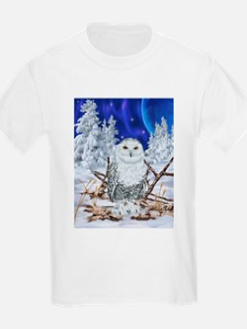 Snowy Owl Digital Art T-Shirt