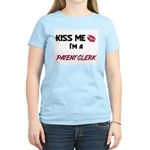 Kiss Me I'm a PATENT CLERK Women's Light T-Shirt