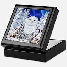 Snowy Owl Digital Art Keepsake Box