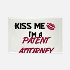 Kiss Me I'm a PATENT ATTORNEY Rectangle Magnet