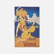 Havana, Cuba; Cuban Entertainers; Vintage Area Rug