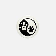 Yin Yang Hand & Paw Mini Button (10 pack)