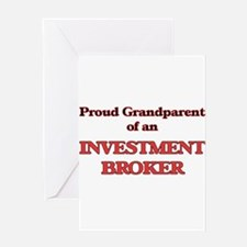 Proud Grandparent of a Investment B Greeting Cards