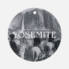 Yosemite Americasbesthistory.com Round Ornament