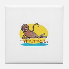 TPoPArt Sock Monkey Tile Coaster