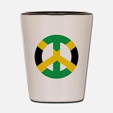 Jamaican Peace Symbol Shot Glass