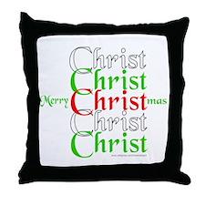 MerryCHRISTmas Throw Pillow