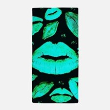 Kisses All Over (Green) Beach Towel
