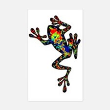 Cute Frogs Sticker (Rectangle)