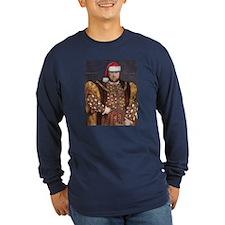 Santa VIII Long Sleeve Navy T-Shirt