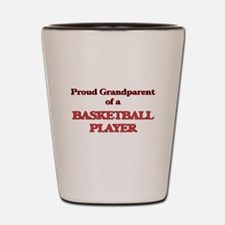 Proud Grandparent of a Basketball Playe Shot Glass