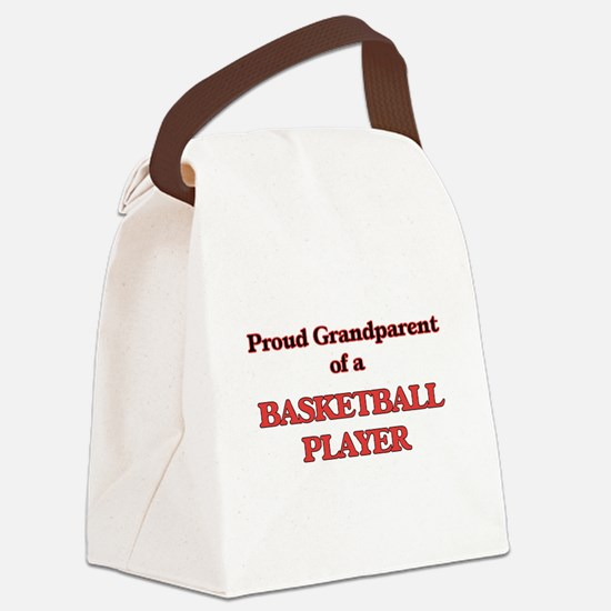 Proud Grandparent of a Basketball Canvas Lunch Bag
