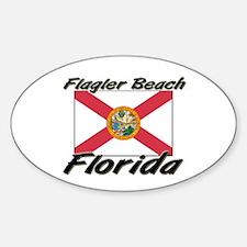Flagler Beach Florida Oval Decal