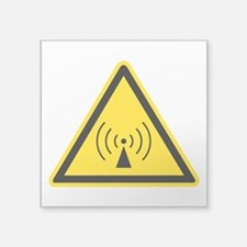 rF Warning Sign Sticker