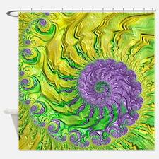 Secondary Colors 3 Fine Fractal Shower Curtain