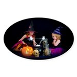 Conjuring Fairies Oval Sticker