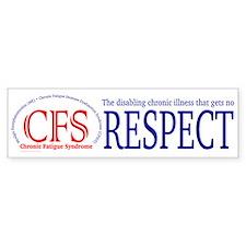 Chronic Fatigue Syndrome RESPECT Bumper Car Sticker