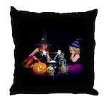 Conjuring Fairies Throw Pillow