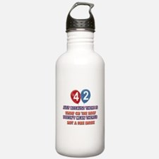 42 year old designs Water Bottle