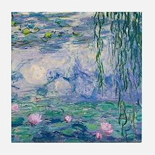 Water Lilies Claude Monet Fine Art Tile Coaster